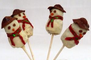 Nayna Kanabar's snowman cake pops