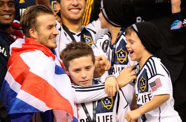 David Beckham and sons, Brooklyn, Romeo and Cruz