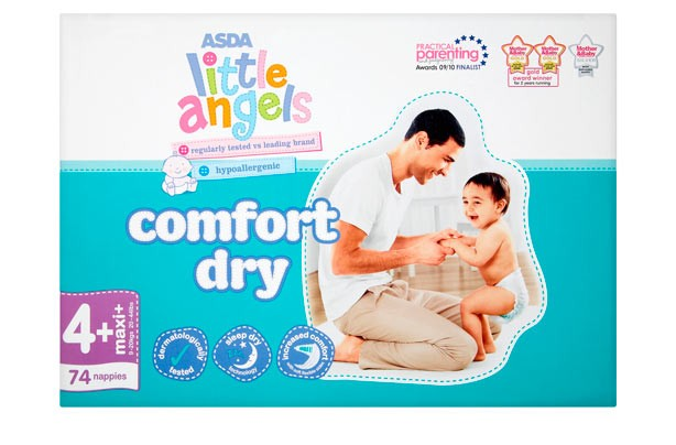 Asda Little Angels comfort dry nappies