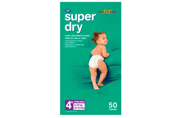Boots super dry nappies