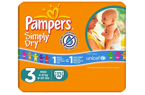 Pampers Simply-Dry nappies