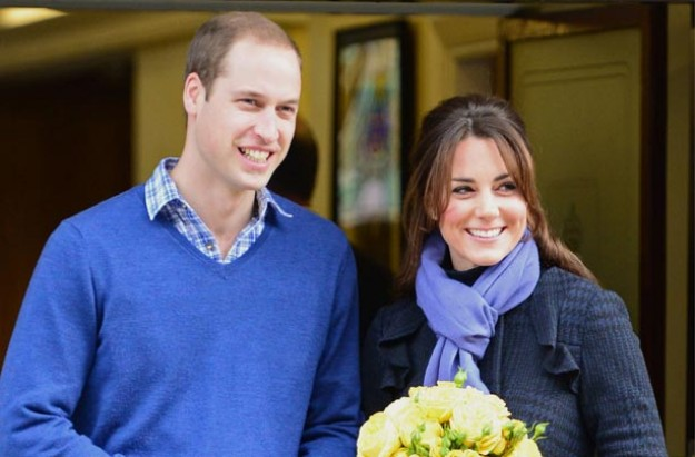 William and Kate leave hospital