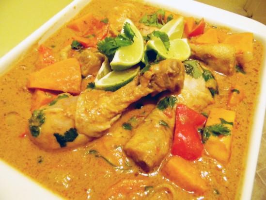 African style chicken stew