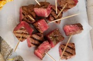 Steak on sticks