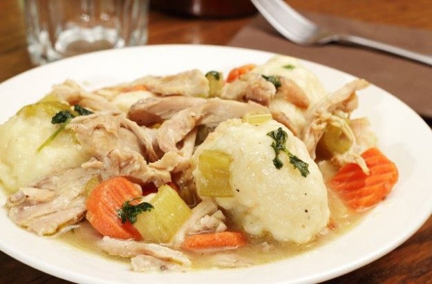Chicken stew with dumplings recipe