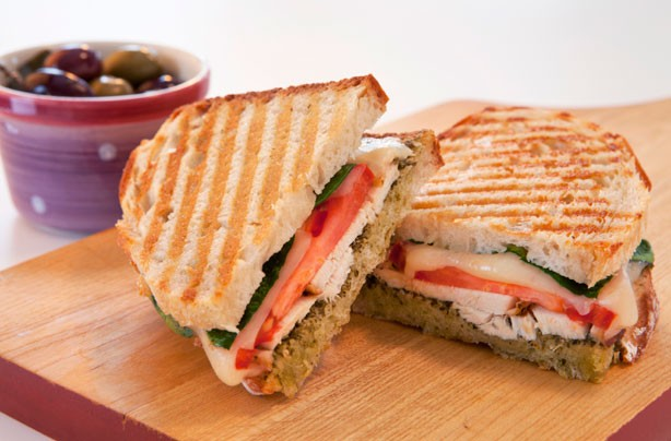Chicken pesto Panini recipe
