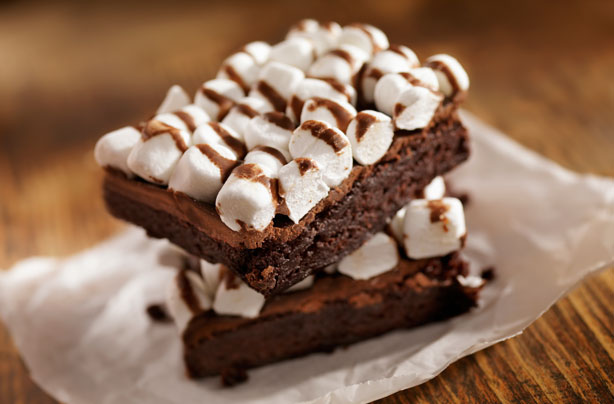 Dark Chocolate And Mallow Brownies Recipe Goodtoknow