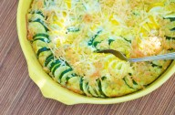 Courgette and parmesan gratin