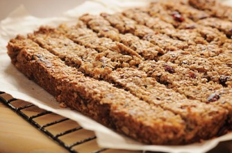 Cranberry and hazelnut oat slices