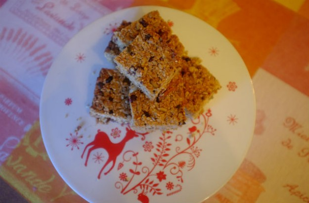 Christmas-spiced flapjacks