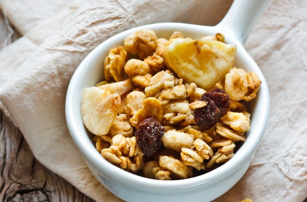 Homemade banana chip granola