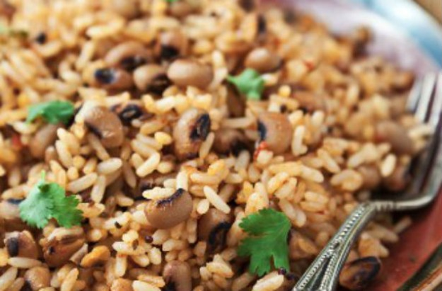 Spicy rice and black eye peas
