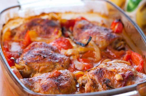 Chilli chicken and pepper roast recipe - goodtoknow