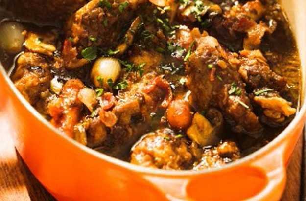 Duck, bacon and onion casserole recipe