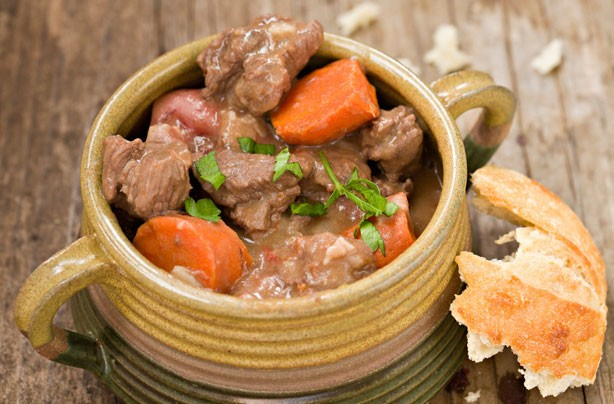 Beef and chestnut stew