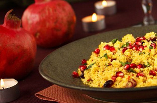 Couscous and pomegranate salad