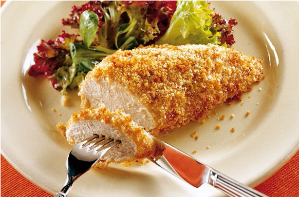 Line slow cooker with liner or cooking spray. Rub each chicken breast with Greek Rub to coat generously on each side. Next, rub about ½ Tablespoon of garlic on each chicken breast.