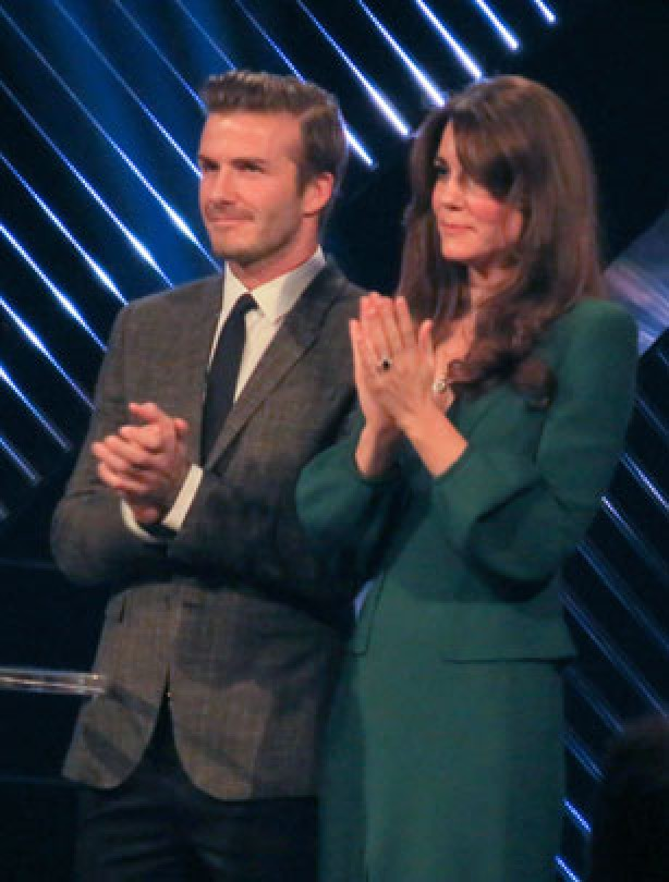 Kate Middleton and David Beckham