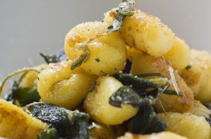 Gnocchi with squash and sage