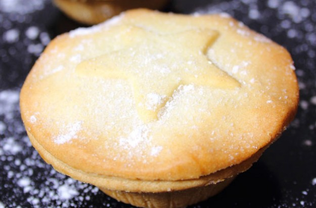 Mince pies with orange pastry