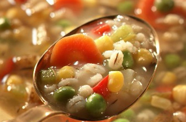 Vegetable and pearl barley stew