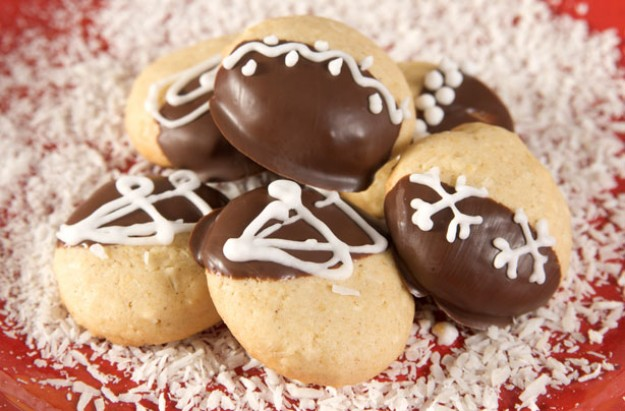 chocolate almond drop biscuits