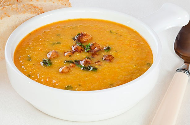 Chickpea parsley soup