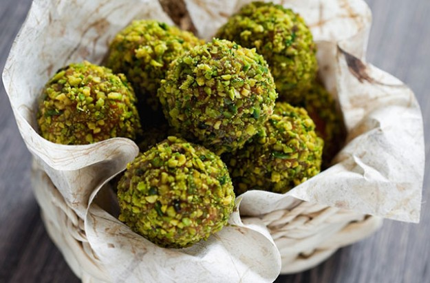 Cranberry and pistachio truffles
