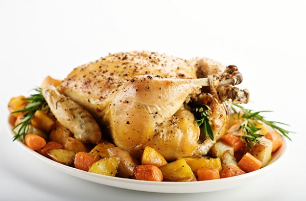 Herby Roast Chicken with Roasted Vegetables