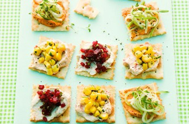50 quick and easy canapes party cracker bites goodtoknow for Easy canape fillings