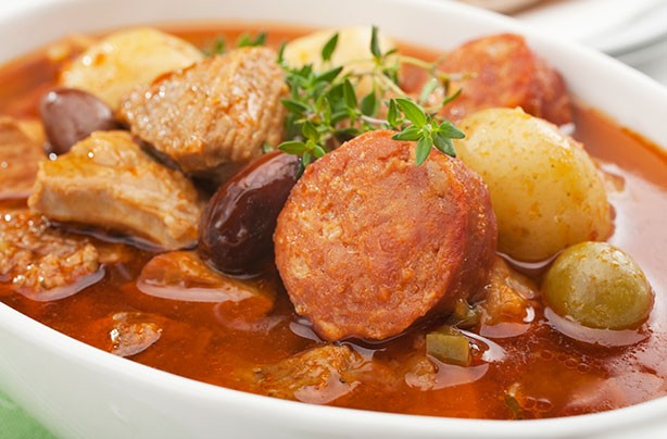 Spanish pork and chorizo stew