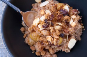 Cinnamon and apple quinoa porridge