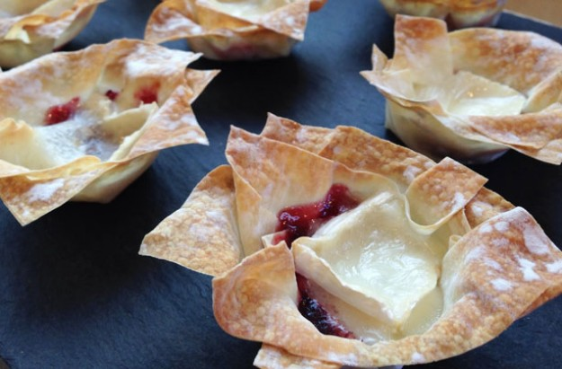 Cranberry and Goasts Cheese tarts