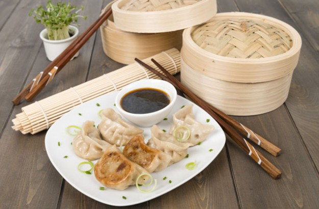 Pot sticker pork dumplings