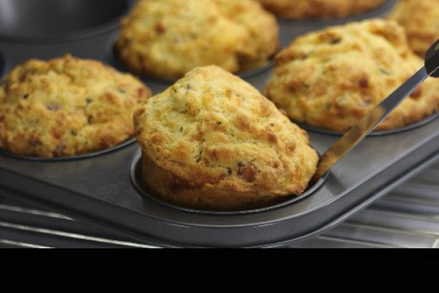 Gluten-free bacon and cheese muffins