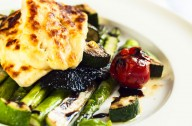 Grilled vegetables and haloumi salad