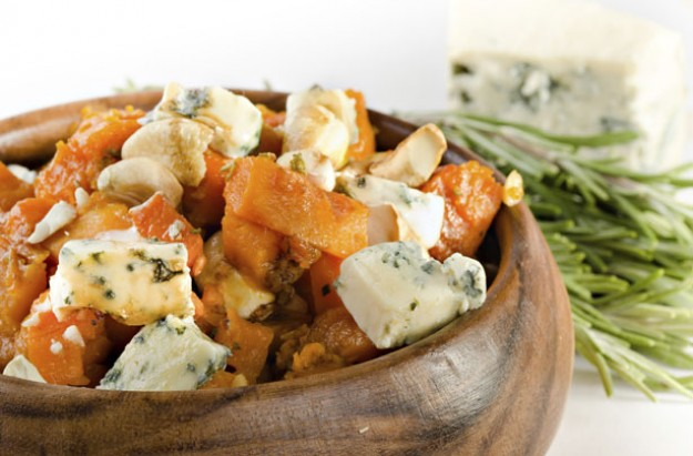 Roasted pumpkin and Gorgonzola salad