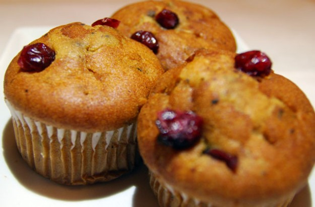Stilton and cranberry muffins