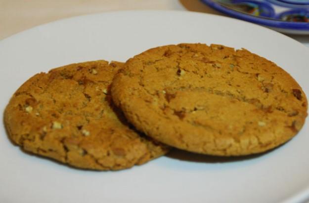 White chocolate, fudge and hazelnut cookies