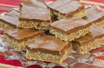 Chocolate and peanut butter bars