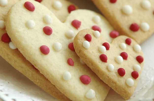 Dotty shortbread hearts