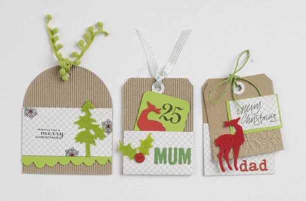 Christmas cards as gift tags