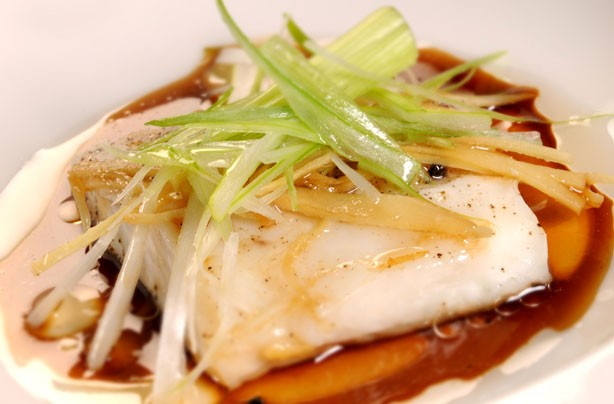 Ken Hom's steamed Cantonese style fish
