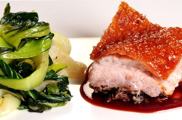 Ken Hom's crackling Chinese roast pork