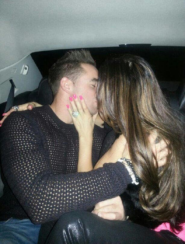 Katie Price kissing Kieran Hayler