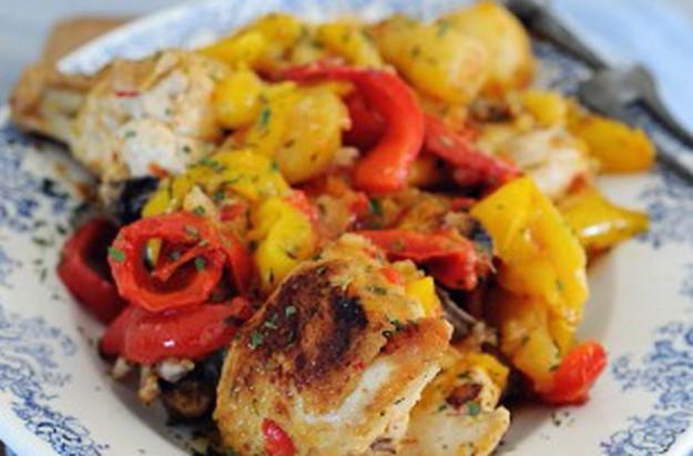 One pot chicken pepper bake