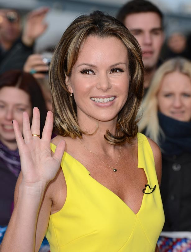 Celebrity hairstyles: Amanda Holden with brown hair