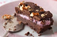 Black Forest ice-cream brownies