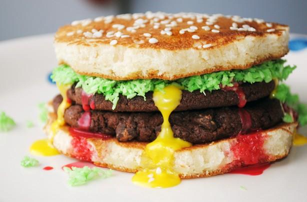 Burger pancakes