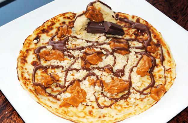 Millionaire's shortbread pancakes